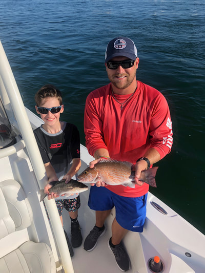 Inshore bay fishing charters in Destin, florida